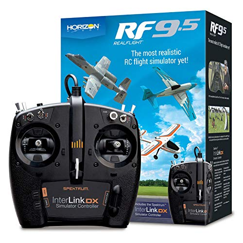 RealFlight 9.5: RF9.5 Radio Control RC Flight Simulator Software with Spektrum Interlink-DX Controller, RFL1200