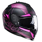 Casque moto HJC IS-17 Noir Mat, Noir, L