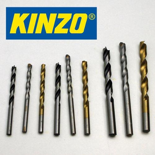 Kinzo combi-boor SET 9 dlg, 5-6-8 mm, cassette, steen hout metaal boren set (LHS)
