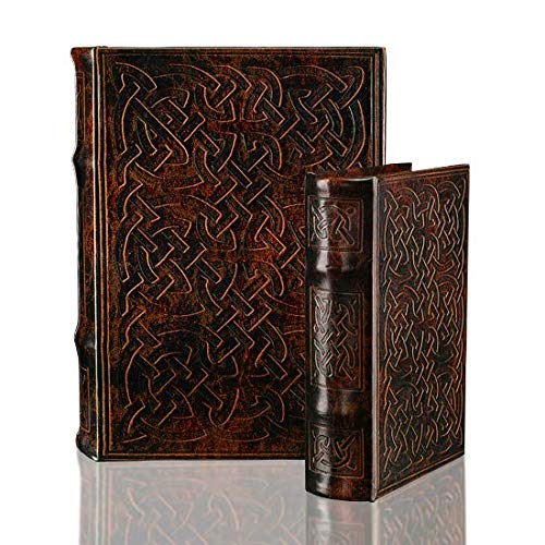 Vintage Classic Celtic Knot Motif Irish Secret Book Box Set