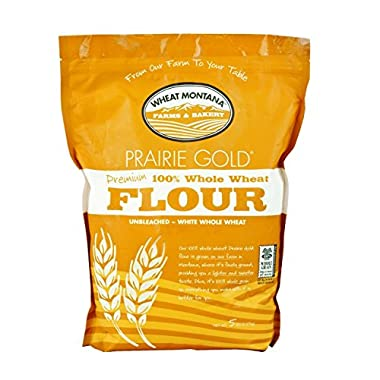 Wheat Montana Prairie Gold 100% Whole Wheat Flour (Pack of Two – 5 Lb. Bags)