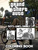 Grand Theft Auto Dots Lines Swirls Coloring Book: Diagonal-Dots-Swirls Activity Books For Kids And Adults