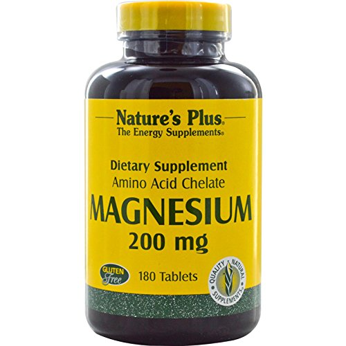 Natures Plus Magnesium 200 mg (Aminosäurechelat) 180 Tabletten