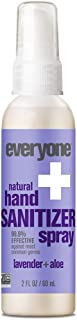 Everyone Hand Sanitizer Spray, Lavender and Aloe, 2 Ounce, 6 Count