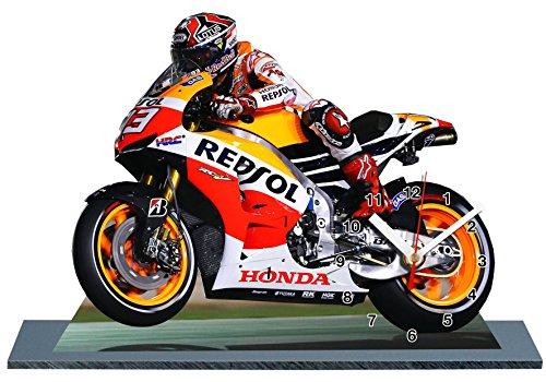 auto-horloge Marc Marquez, Moto GP, Miniatur Modell Motorrad in der Uhr 02