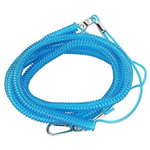 Tabpole Cuerda de entrenamiento anti mordida para pájaros, cuerda para mascotas, juego de correa para mascotas y pájaros, línea de mosca