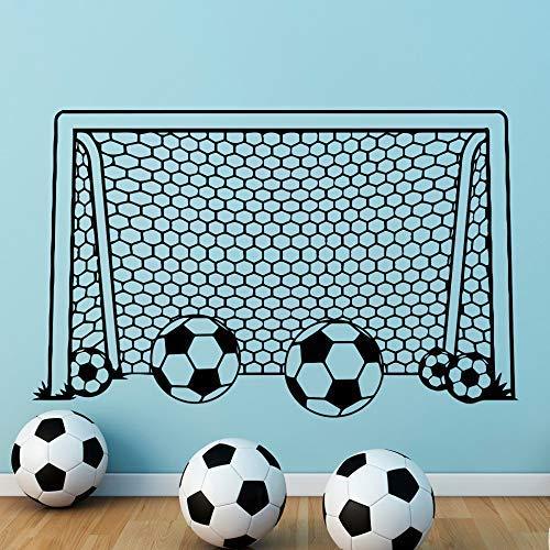 Junge Wandtattoo Fußball Fußballtor Net Vinyl Aufkleber Für Kinderzimmer Dekoration Sport Schlafzimmer Dekor Kindergarten Kunst Poster 57 * 89 Cm