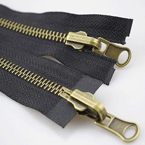 1 pieza 75/80/100/120 / cm 5# Cremalleras de metal para coser Chaqueta...