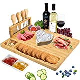 Tabla de queso, BS Bamboo Charcuterie Platter y Tabla de Carne...