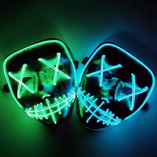TOPCOMWW Halloween Led Enge Masker Cosplay Kostuum Verlichting Masker Voor Halloween Festival Party Masker benodigdheden Accessoires Decor