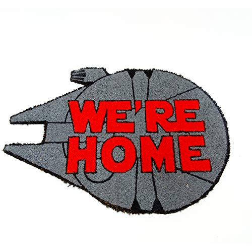KOOK TIME Koko doormats Felpudo de Star Wars para Entrada de Casa We're Home Original y Divertido/Fibra Natural de Coco con Base de PVC, 46x65 cm