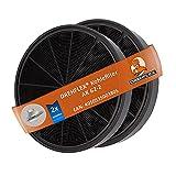 DREHFLEX AK62-2 - 2x Aktivkohlefilter für Dunstabzugshaube, Miele 6532971, Bosch/Neff Z5135X1, 00748733 und weitere,ca. 193mm