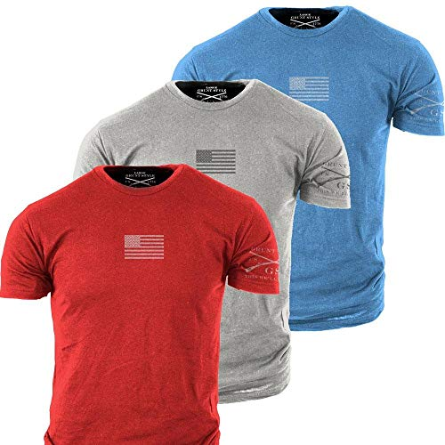 Grunt Style Freedom Pack 3-Pack Men's T-Shirts (XX-Large)