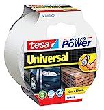 Tesa 56348-00005-05 Extra Power Universal Nastro Telato Americano, 10mx50mm, Bianco