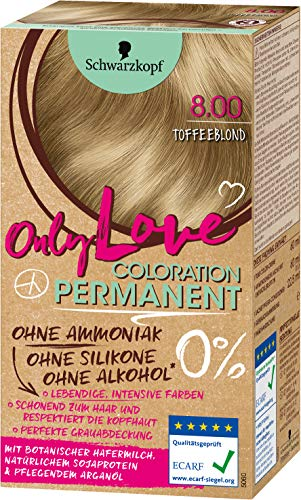 SCHWARZKOPF ONLY LOVE Coloration 8.00 Toffeeblond, Stufe 3, 3er Pack (3 x 143 ml)
