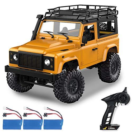 GoolRC Coche teledirigido MN-90, escala 1:12, 2,4 GHz, todoterreno con alta velocidad e iluminación LED, vehículo eléctrico, juguete para niños, adultos