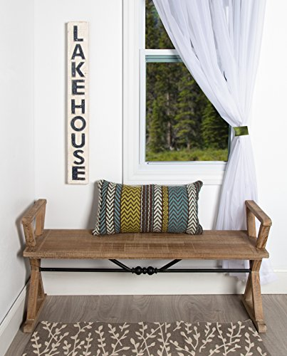 Kate and Laurel Travere Wood Bench, 48x14x18, Brown