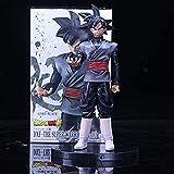 Animated Dragon Ball Z Black Son Goku Figura de acción DBZ Black Chocolate Son Goku PVC Colección Modelo Juguetes 20 cm