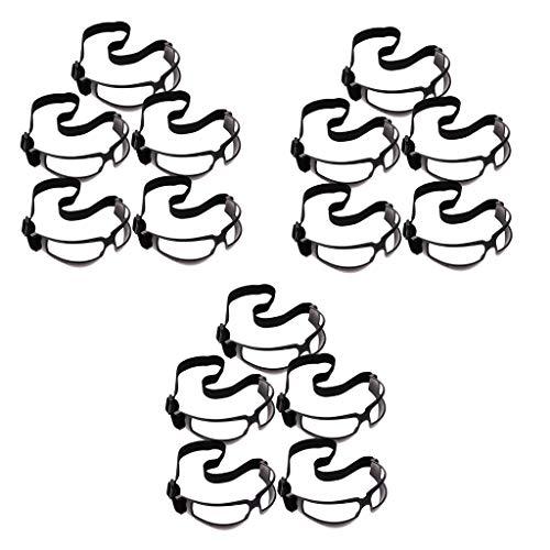 MagiDeal 15pcs Deportes Baloncesto Gafas Deportivo a Driblar Especificaciones Gafas Ayuda para Entrenamiento Suministros Negro