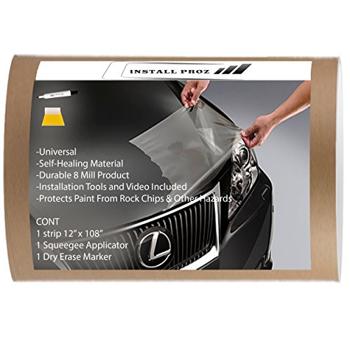 "Install Proz Self Healing Universal Clear Paint Protection Bra Hood and Fender Kit (12"" x 108"")"
