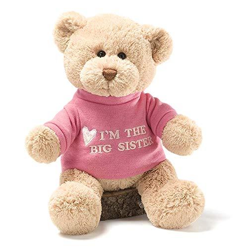 "GUND I'm the Big Sister T-Shirt Teddy Bear Stuffed Animal Plush, Pink, 12"""