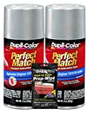 Dupli-Color Millennium Silver (Metallic) Exact-Match Automotive Paint for Toyota Vehicles - 8 oz, Bundles Prep Wipe (3 Items)