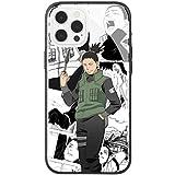 Phone Case Compatible with iPhone 12 Pro Max,Gaara Shikamaru Naruto Pattern Tempered Glass Back Cover Soft TPU Anti Scratch Bumper Protective Anti-Scratch Casing