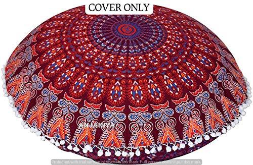 Ganesham Coussin de sol indien pour animal domestique Motif mandala 32 x 32 cm
