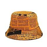ZHENQIUFA Sombrero Pescador Gorras Moda Unisex Algodón Periódico Panamá Sombreros De Cubo Impresos Sombreros De Sol Hombres Mujeres Sombreros De Viaje Plegables-2