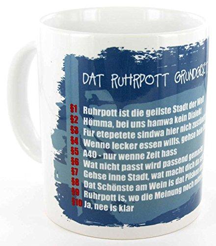 die stadtmeister Keramiktasse weiß Dat Ruhrpott-Grundgesetz
