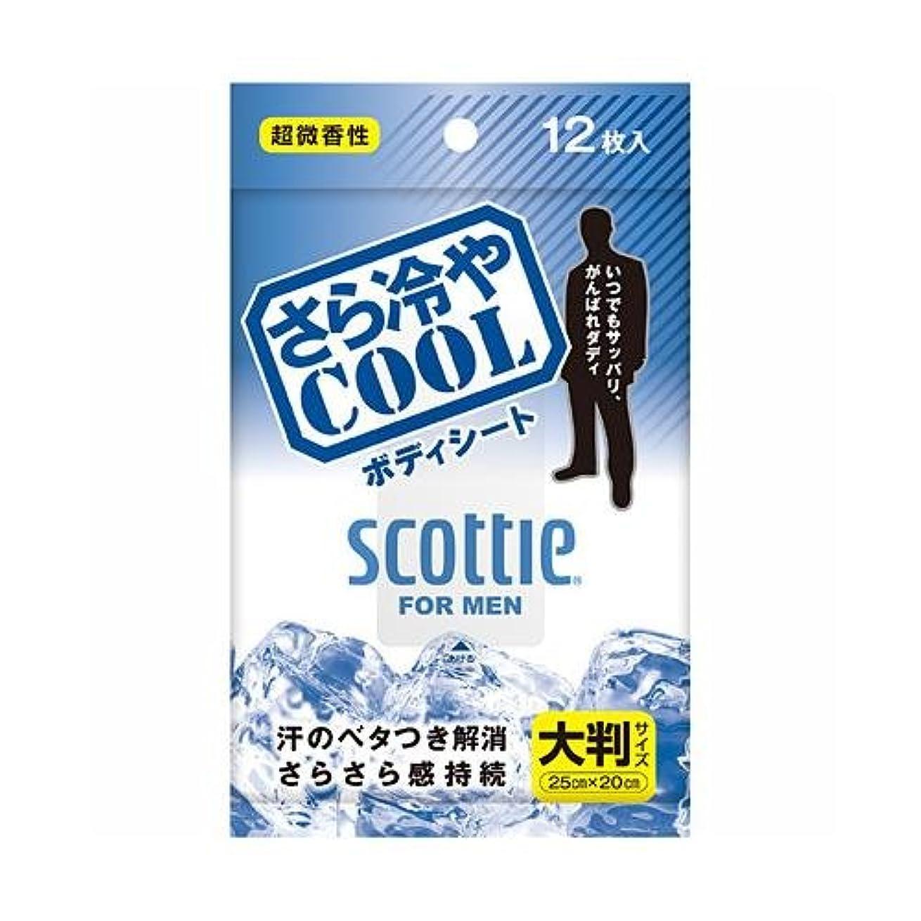 廃止する全滅させる自分を引き上げるスコッティ さら冷やCOOL ボディシート 12枚入