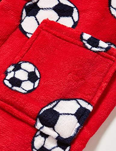 Playshoes Kuschelweicher Fleece Morgenmantel Fußball Capo d'Abbigliamento Bambino 5