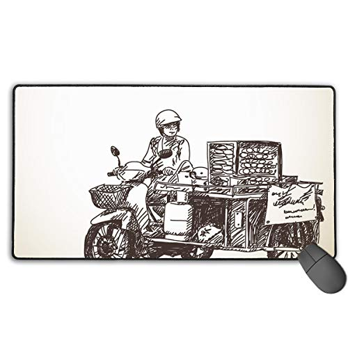 Personalized Mouse Pad Gaming Mouse Pad Best Mouse Pad Ergonomic Mouse Pad Street Food Art