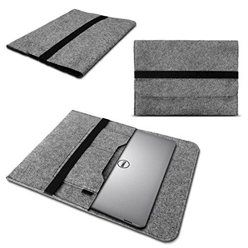 NAmobile Schutzhülle Sleeve Tasche kompatibel für Dell XPS 13 9380 9370 9360 9365 Hülle Cover Filz Hülle Grau