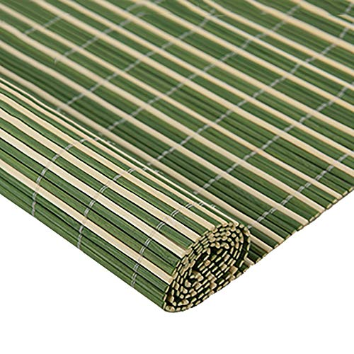 FF Estores enrollables Cortina de la Ventana Enrollable de bambú Verde para la partición del salón de té, Cortinas de Rodillo de Estilo japonés Zen Gazebo Blackout con Ganchos, Ancho de 70-140cm