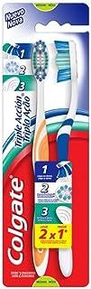 Colgate Cepillo Dental Triple Acción Mediano, 2 Piezas