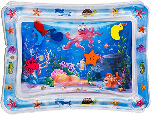 Inflatable Tummy Time Water Mat Baby –Toddlers Fun Tummy Time Play Activity Playmats,Perfect Sensory Toys for Baby Early Development Activity Centers Infants | Age 3 to 12 Months(Ocean Theme)