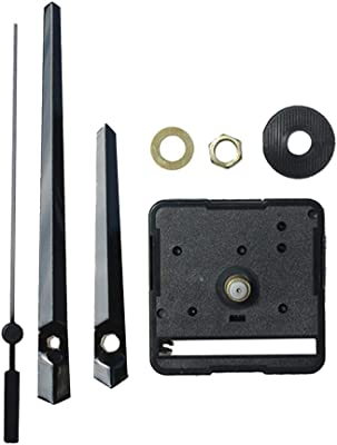 Fityle Black HR1688 DIY Clock Quartz Movement Mechanism Spindle Hand Wall Repair Parts Tool Kit