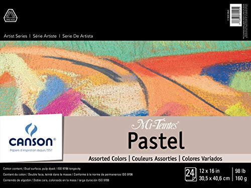 "Mi-Teintes Pastel Pad, Assorted Colors 12""X16"