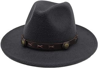 Hat Outdoor Casual Hat Size 56-58CM Men Women Wool Fedora Hat With Punk Belt Trilby Church Hat Fascinator Hat Fashion Hat