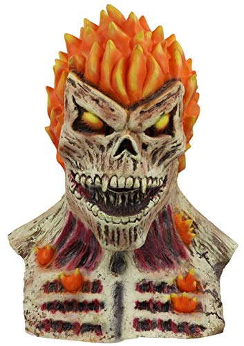 2019 Ghost Rider Mask Superhero Cosplay Latex Mask Skull Skeleton Red Flame Fire Man Creepy Full Head Adult Props Party Halloween