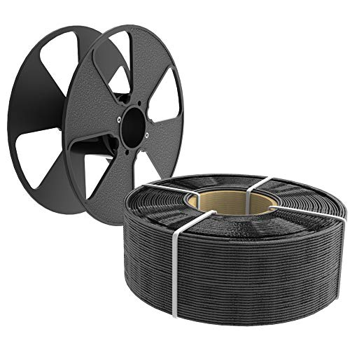 Filamento de impresión 3D PLA 1,75 mm 1KG Filamento para impresora [MasterSpool reutilizable gratis], 1.75MM Spooled, fibra de carbono, 20