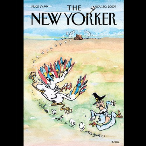 The New Yorker, November 30, 2009 (Roger Angell, Dom Delillo, Mike Sacks) cover art