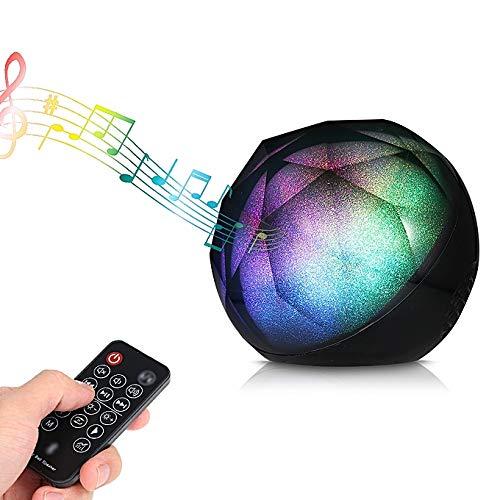 DJ portátil 3D Colorido Bola Karaoke Player Uso bajo estupendo BT V4.2 música del Altavoz estéreo inalámbrico 52 mm AUX USB TF del Jugador
