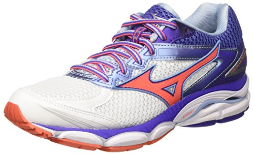 Mizuno Wave Ultima Wos J1GD1609 33, Scarpe da Corsa Donna, Bianco (White/Fiery Coral), 40.5 EU (7 UK)