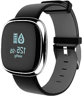 Reloj Inteligente GPS, IP67 Impermeable Monitor de Sueño Reloj Pulsómetro Rastreador de Ejercicios Recordatorio sedentario Bluetooth Podómetro para Hombres Mujeres