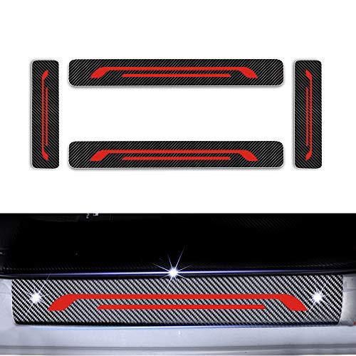 Cobear Einstiegsleiste Schutz Aufkleber Reflektierende Lackschutzfolie für C-MAX Ecosport Kuga Edge Mondeo Einstiegsleisten Rot 4 Stück