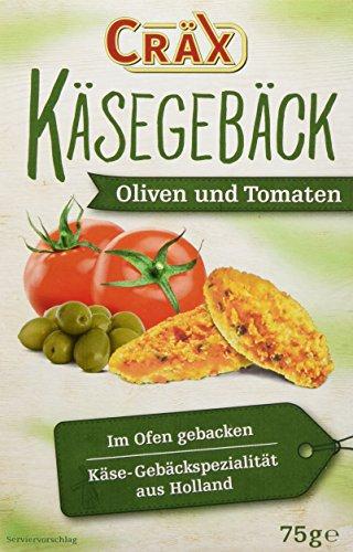 Cräx Käsegebäck mit Oliven und Tomaten 75 g (1 x 75 g)