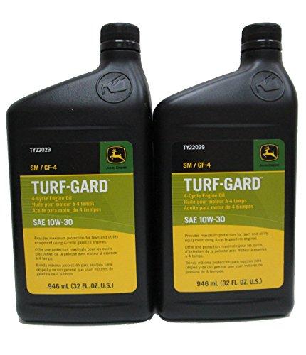 John Deere Turf-Gard SAE 10W-30 Oil TWO Quarts - TY22029