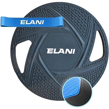 ELANI Premium Balance Board   inkl. Fitnessband & Sportübungen   robuster, rutschfester Ganzkörpertrainer   Balanceboard als Gleichgewichtstrainer   Wackelbrett zur Steigerung von Balance & Fitness